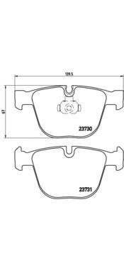 P06026 Колодки тормозные BMW E60/E61/E65/E66/E70/E71 задние