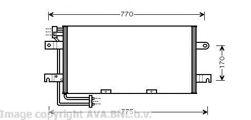 VW5195 Радиатор кондиционера VW: TRANSPORTER IV c бортовой платформой/ходовая часть (70XD) 1.9 D/1.9 TD/2.0/2.4 D/2.5/2.5 Syncro