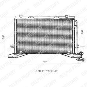TSP0225330 Радиатор кондиционера