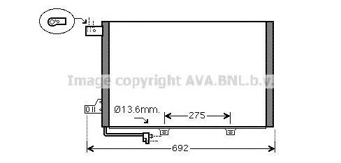 MSA5578 Конденсер MB W169/W245 1.5 04-12