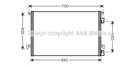 OLA5334 Радиатор кондиционера OPEL: SIGNUM 2.0 DTI/2.2 DTI 03 - , VECTRA C 2.0 DTI 16V/2.2 DTI 16V 02 - , VECTRA C GTS 2.0 DTI 1