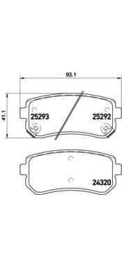 P30051 Колодки тормозные KIA CEED/RIO/SPORTAGE/HYUNDAI ACCENT/i20/i30/ix35 задние