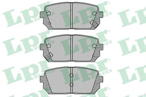05P1416 Колодки тормозные KIA CARENS 02- задние