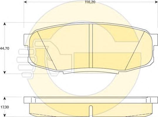 6134919 Колодки тормозные TOYOTA LAND CRUISER J200 4.5D/4.7 07-/LEXUS LX570 08- задние