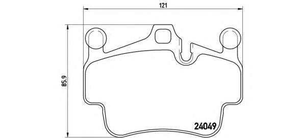 P65014 К-т торм. колодок Fr Porsche 911/ Cayman 04-