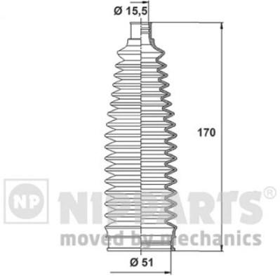 N2843024 Пыльник рулевой рейки MAZDA 3 03-/5 05-