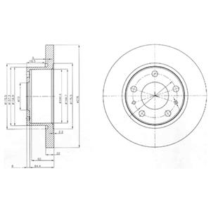 BG3752 Диск тормозной IVECO DAILY III 99-06 передний D=276мм.