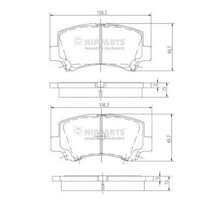 J3608018 Колодки тормозные SUZUKI WAGON R+ 1.0/1.2 98-00 передние