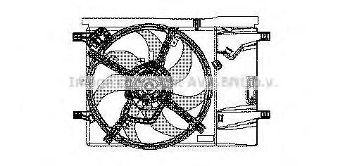 FT7533 Вентилятор кондиционера FIAT PUNTO 1.2-1.4 05-