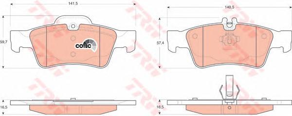 GDB1546 Колодки тормозные MERCEDES-BENZ W211/W212/W220/W221/R230 задние