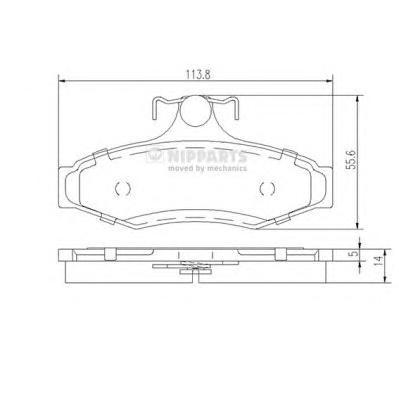 J3610901 Колодки тормозные DAEWOO LEGANZA 2.0/2.2 97-/NUBIRA 1.6/2.0 97- задние
