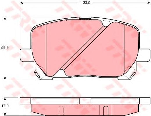 GDB3315 Колодки тормозные TOYOTA AVENSIS VERSO 2.0/2.0D 01- передние