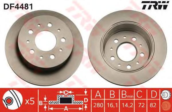 df4481 Тормозной диск