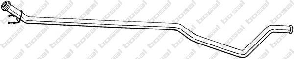 952155 Трубопровод выпускной PEUGEOT 307 1.6TD 03-08