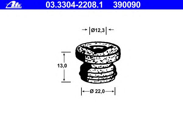 03330422081 Пробка, бачок тормозной жидкости