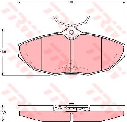 GDB1511 Колодки тормозные JAGUAR S-TYPE 02-07/XJ6/XJ8 03-09 задние