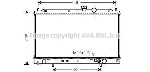 MT2064 Радиатор MITSUBISHI COLT/GALANT/LANCER 1.6/1.8 92-03