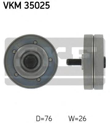 VKM35025 Ролик промежуточный поликлинового ремня генератора, с кондиционером Opel Astra G/H 1.7CDTi 03 с A/C