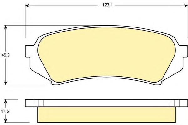 6131989 Колодки тормозные TOYOTA LAND CRUISER 100 9807/LEXUS LX470 9807задние