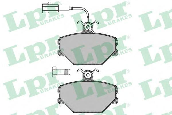 05P102 Колодки тормозные FIAT PANDA/TEMPRA/TIPO/UNO 1.0-1.6 86-04 передние