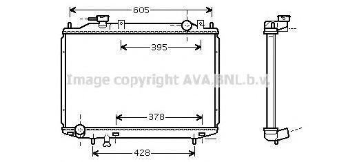 MZ2171 Радиатор FORD RANGER 2.5D-3.0TD 99-06 / MAZDA B2500 2.5D 99-06