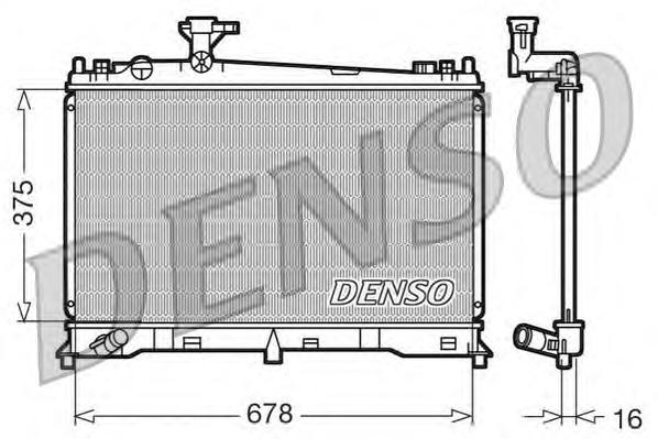 DRM44010 Радиатор MAZDA 6 1.8/2.0 02-