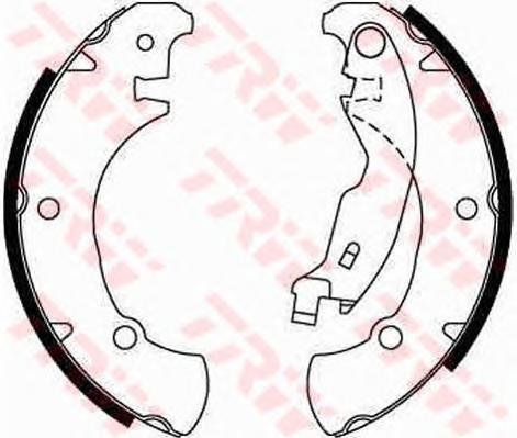 GS8654 Колодки тормозные барабанные задн FIAT: BRAVA 95-01, BRAVO 95-01, MAREA 96-, MAREA Weekend 96-