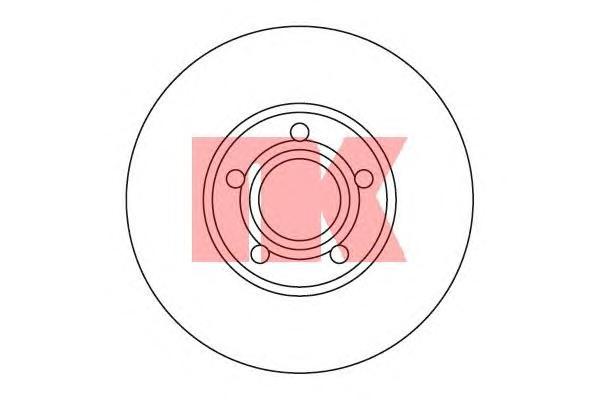 204742 Диск тормозной передний / AUDI-100, A-4, A-6 1.6-2.3/2.5DIS (15.0-288) 90~