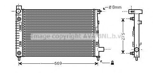 MSA2282 Радиатор MB W168 1.4/2.1/1.6D/1.7D 97-05