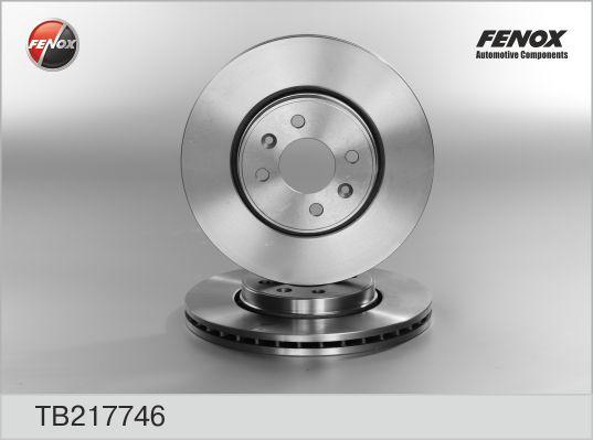 TB217746 Диск тормозной RENAULT KANGOO 01-/LAGUNA 95-01/MEGANE 96-/SCENIC 99- перед.вент.
