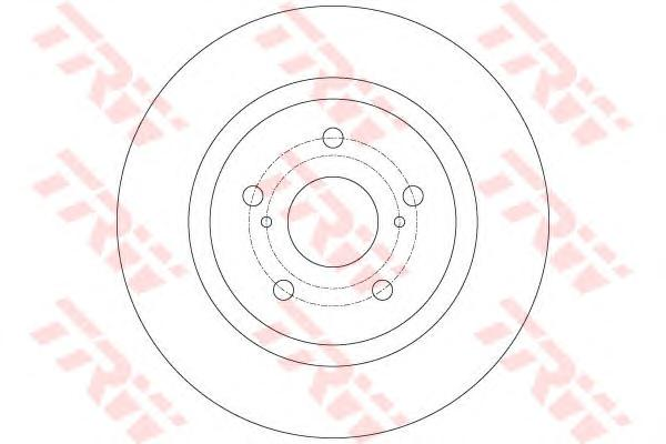 DF6324 Диск тормозной TOYOTA AVENSIS 09- задний D=290мм.