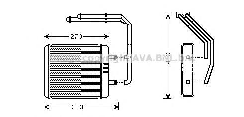 IV6052 Радиатор отопителя IVECO DAILY 2.8 99-