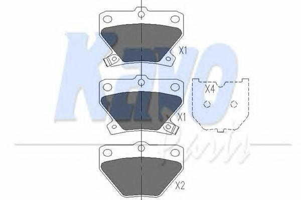 KBP9013 Колодки тормозные TOYOTA CELICA 99-/COROLLA 00-/PRIUS 1.5 00-/YARIS 99- задние