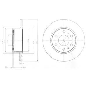 BG4164 Диск тормозной IVECO DAILY 06- без АБС задний D=296мм.