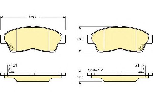 6131479 Колодки тормозные COROLLA 9201/CARINA E 9296/RAV 4 9495 передние