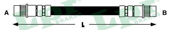6T46755 Шланг тормозной CITROEN BERLINGO/PEUGEOT PARTNER 96- 280мм зад.