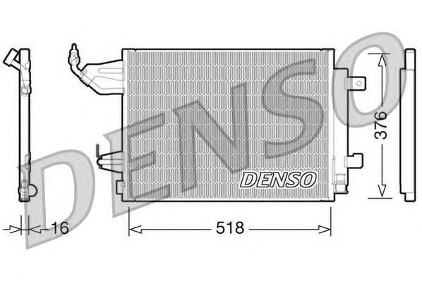 DCN16001 Радиатор кондиционера SMART Forfour, Fortwo 04-