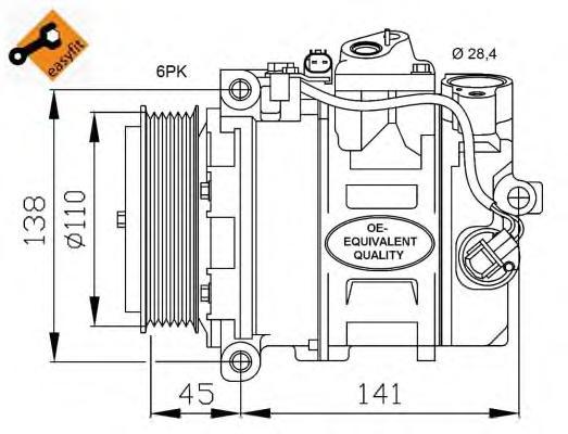 32214 Компрессор MB W203