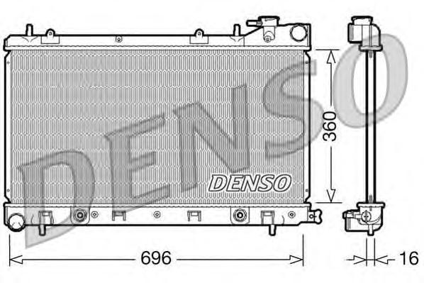 DRM36002 Радиатор охл. ДВС SUB Forester 2.0i Aut. 06.02-