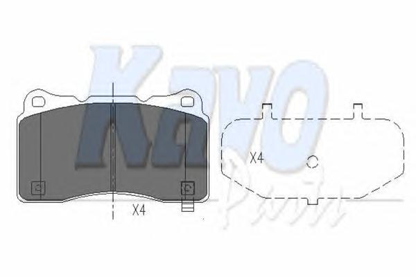 KBP8021 К-т торм. колодок Fr MI Lancer EVO 08-