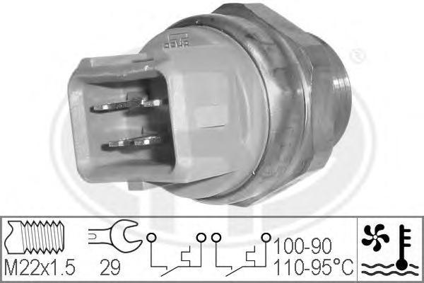 330211 Датчик включения вентилятора FORD: ESCORT V (GAL) 1.4/1.6/1.8 16V XR3i 90-92, ESCORT V кабрио (ALL) 1.4/1.6/1.8 16V XR3i