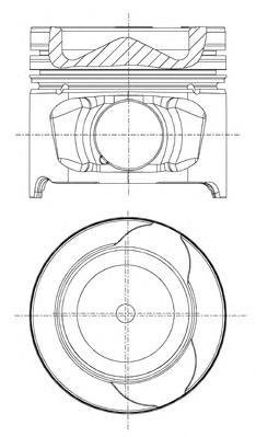 8712340030 Поршень RENAULT KANGOO/MEGANE II/SCENIC II/III 05- STD(комплект)