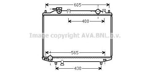 MZ2235 Радиатор FORD RANGER 2.5D-3.0TD 99-06 / MAZDA B2500 2.5D 99-06