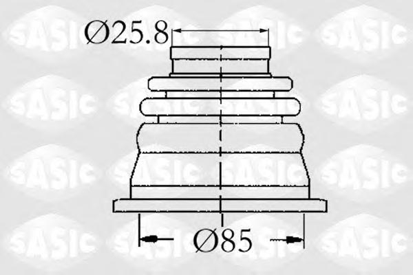 4003408 Пыльник ШРУСа RENAULT R11/R19/CLIO/MEGANE/KANGOO 1.4-2.0 83-05 внутр.