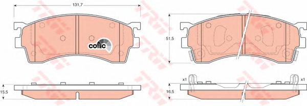 GDB3209 Колодки тормозные MAZDA 323/626/PREMACY 92- передние