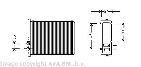 VOA6085 Радиатор отопителя VOLVO C70/S70 2.0-2.5 92-05