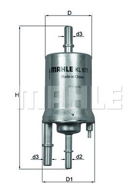KL871 Фильтр топливный VW SHARAN 1.4-2.0 10-