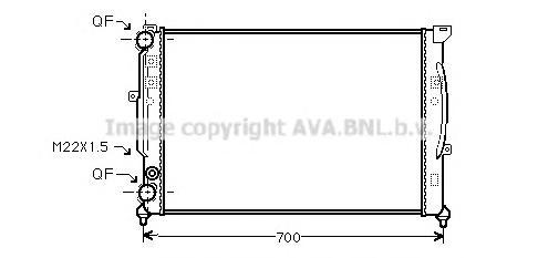 AIA2123 Радиатор AUDI A4 1.6-2.3/1.9TD M/T 97-05