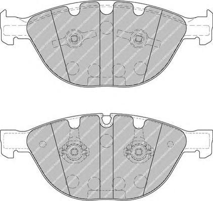 FDB1883 Колодки тормозные BMW E60/E65/M5/M6 04-/JAGUAR FX/XJ/XK 09- передние