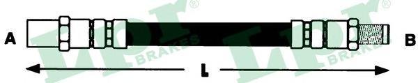 6T46135 Шланг тормозной M10x1x450mm пер E28 (F02077)